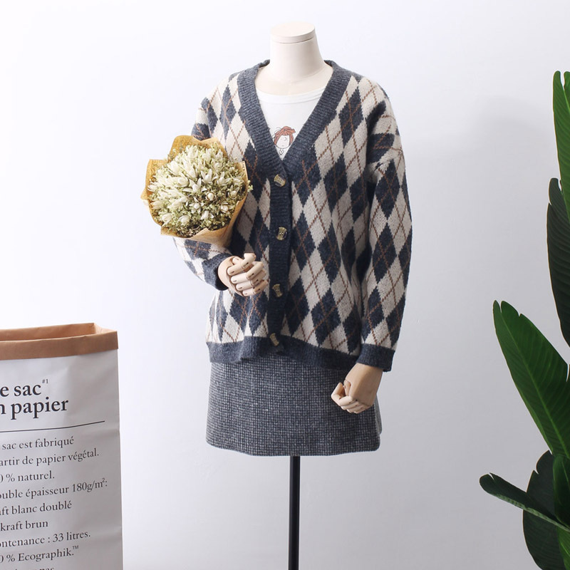 Poncho 2018 primavera nuevo patrón Cardigan coreano elegante ...