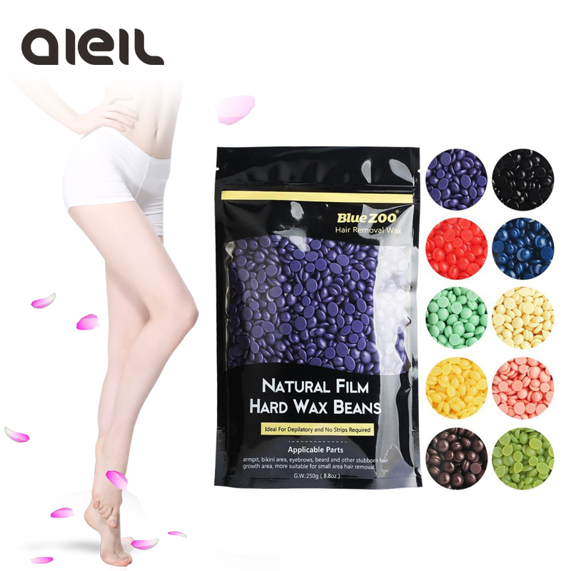 250g Hair Removal Cream Epilator 10 Flavour No Strip Depilatory Hot Film Hard Wax Pellet Waxing Bikini Hair Removal Bean 250g hair removal cream epilator 10 flavour no strip depilatory hot film hard wax pellet waxing bikini hair removal bean