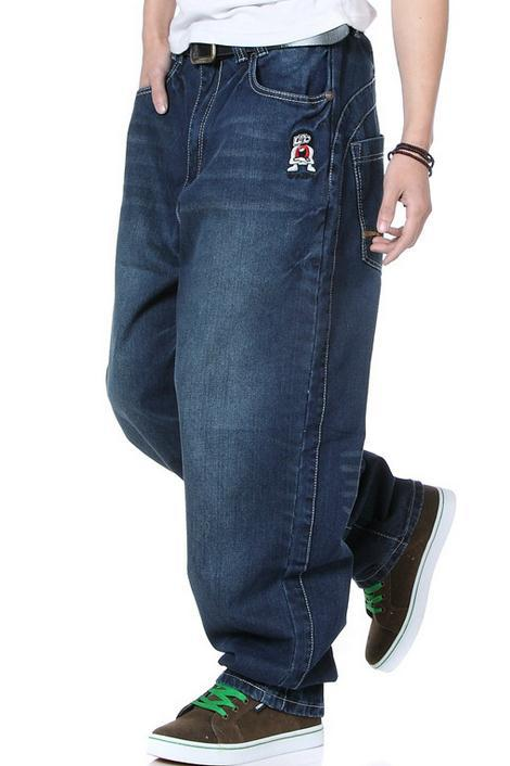 ФОТО New Spring Autumn Hip Hop Big Size Jeans Men Europe American Style Street dance Long Pants Casual Loose Harem Trousers Size30-46