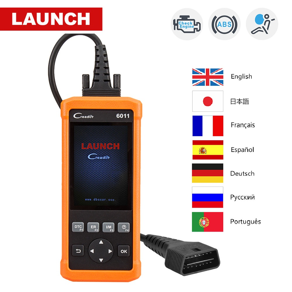 Wholesale Launch CReader 6011 CR6011 OBD2 Auto Code Reader Car Diagnostic Tool Launch Scanner ABS SRS System Full OBDII Function оригинальный launch creader vi поддержка нескольких языков creader 6 obd2 code reader обновление онлайн