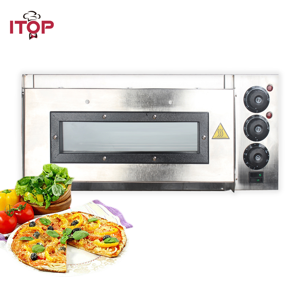 ITOP Commercial Pizza Oven Timer Electric 20L Pizza Oven Commercial Ceramic Pizza Stone CE Certificate 110V/220V цена