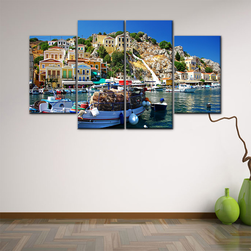 4 Piece Wall Art aliexpress : buy 4 piece wall art painting pictures print on