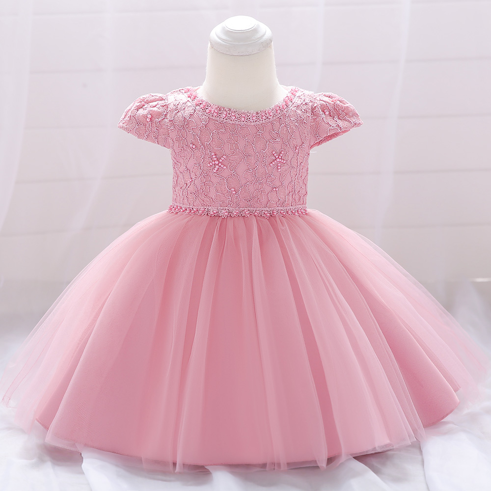 2020 Summer Tutu Newborn Christening Dress For Baby Girl Dresses Party And Wedding Princess 1 Year Birthday Dress <font><b>6</b></font> <font><b>12</b></font> <font><b>24</b></font> Month image