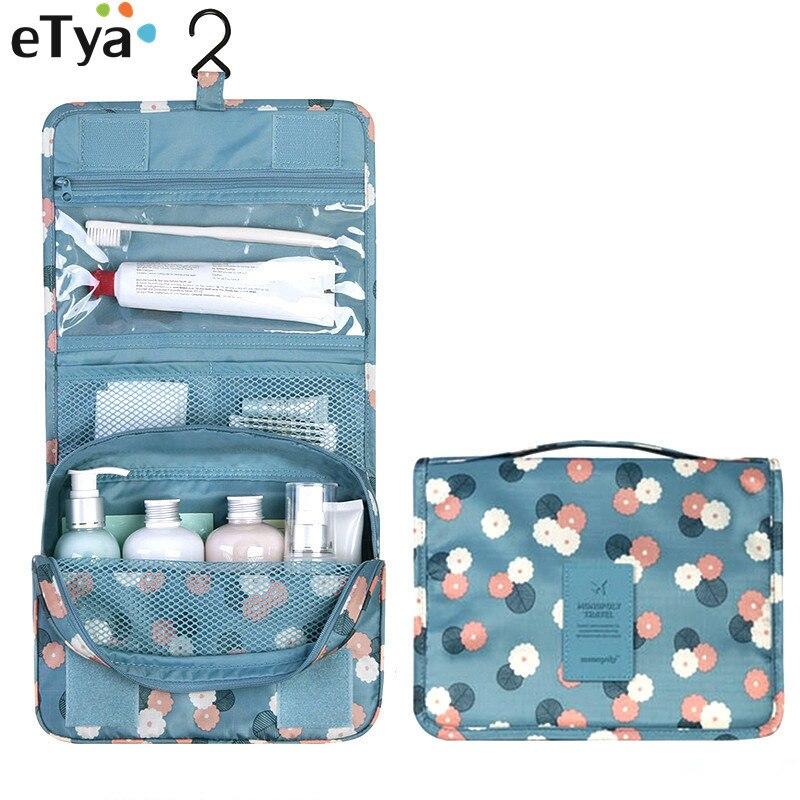 Etya Mode Frische Falten Multifunktions Make-up Tasche Blume Frauen Kosmetik Taschen Organizer Fall Damentaschen Gepäck & Taschen