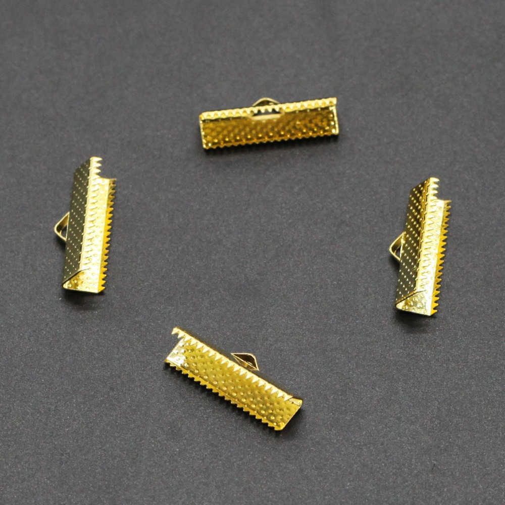 Bronze End Clasps 200pcs 10mm Fastener Flat Leather Cord Metal End Caps Connectors for Diy Jewelry Making