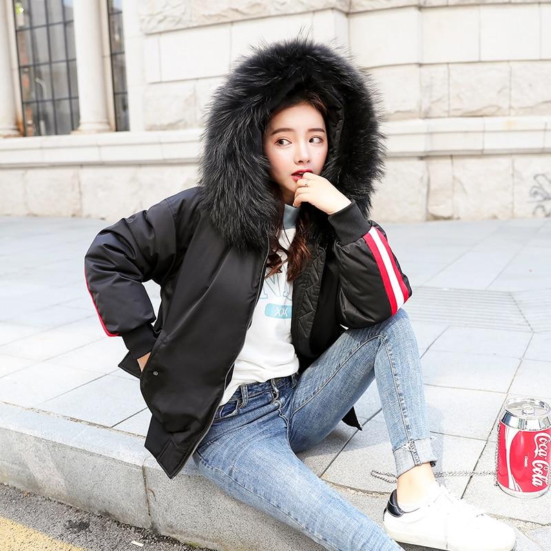 Black Avec Chaud hiver De Rayures Manteaux Mode Coton Dames Courts Outfit lavender Automne Blanc Col Capuche Vestes Parka Rouge Femmes Fourrure À 6AWcSqR