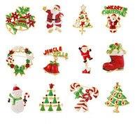 Mdiger miced 17 Pçs/lote Broches de Natal Broche Pin Decoração de Inverno Por Atacado Das Mulheres Dos Homens de Moda Jóias de Presente de Natal