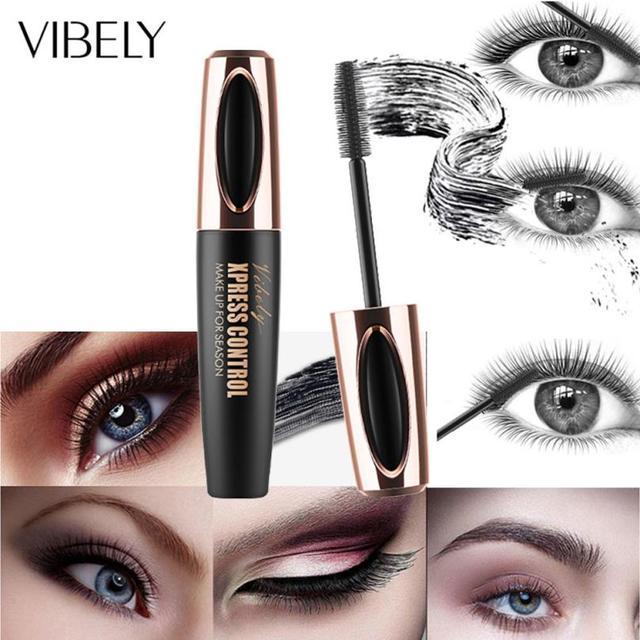 Mascara New Long Curling Makeup Eyelash Black Waterproof Fiber