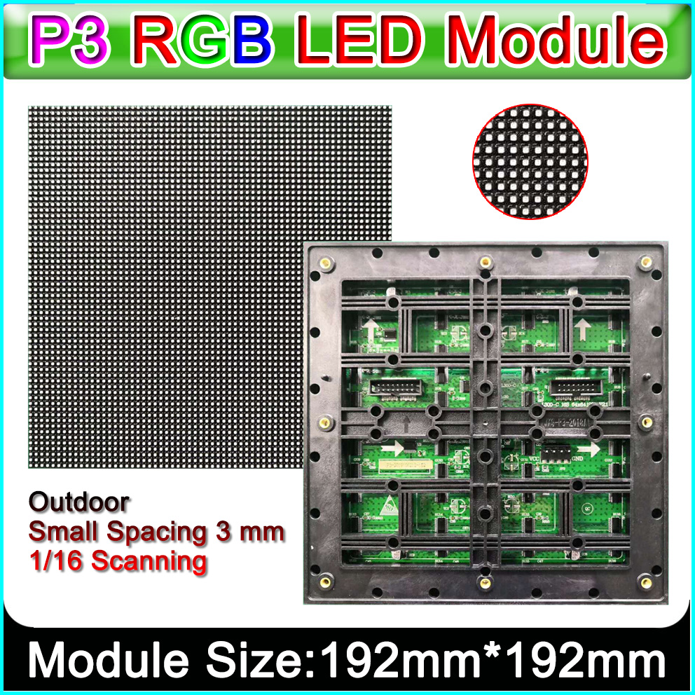 P3 Outdoor Full Color LED Display Module, Small Pitch HD Display Panel