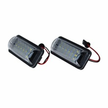 License Number Plate Light Lamps for Scion FRS Subaru BRZ Toyota FT86 2010-2016 Error Free 18 3528 SMD LED