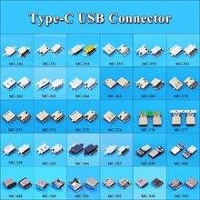 30 моделей, 30 шт., разъем Micro USB Type C, гнездовой разъем для зарядной док станции, разъем Type C для Xiaomi 5, Redmi, Huawei Honor