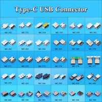 Conector Micro USB tipo C para Xiaomi 5, Redmi y Huawei Honor, base de carga hembra, enchufe tipo C, 30 modelos