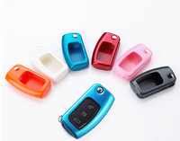 Car Key Shell Flip Painted Folded Key Cover Case Fits For Ford Fiesta Ecosport Focus 2
