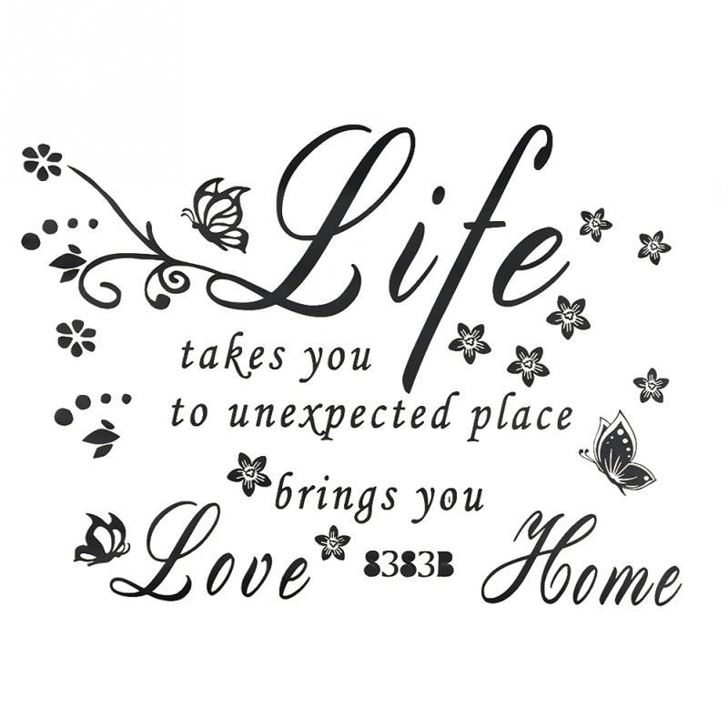 mooie spreuken over het leven engels PromoNew Mode Vlinder Bloem Wijnstok Engels Spreuken Liefde de  mooie spreuken over het leven engels