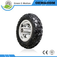 High Quality Rubber Tyre 10 Inch Front Wheel Electric Bike Wheel Electric Scooter Wheelchair Handcart Wheel
