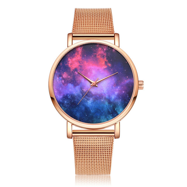 Lvpai Women's Casual Quartz Mesh Belt Watch Analog Wrist Watch Brand Luxury Wome