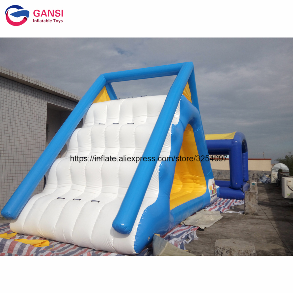 Available commercial grade giant inflatable water park slides, Water play equipment inflatable triangle water slide for pool