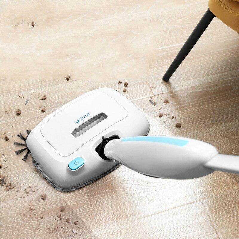 Пылесос электрический веник Электрический Швабра уборочная машина для мытья полов Smart Cleaner развертки, сосать, перетащите, три в одном ручной...