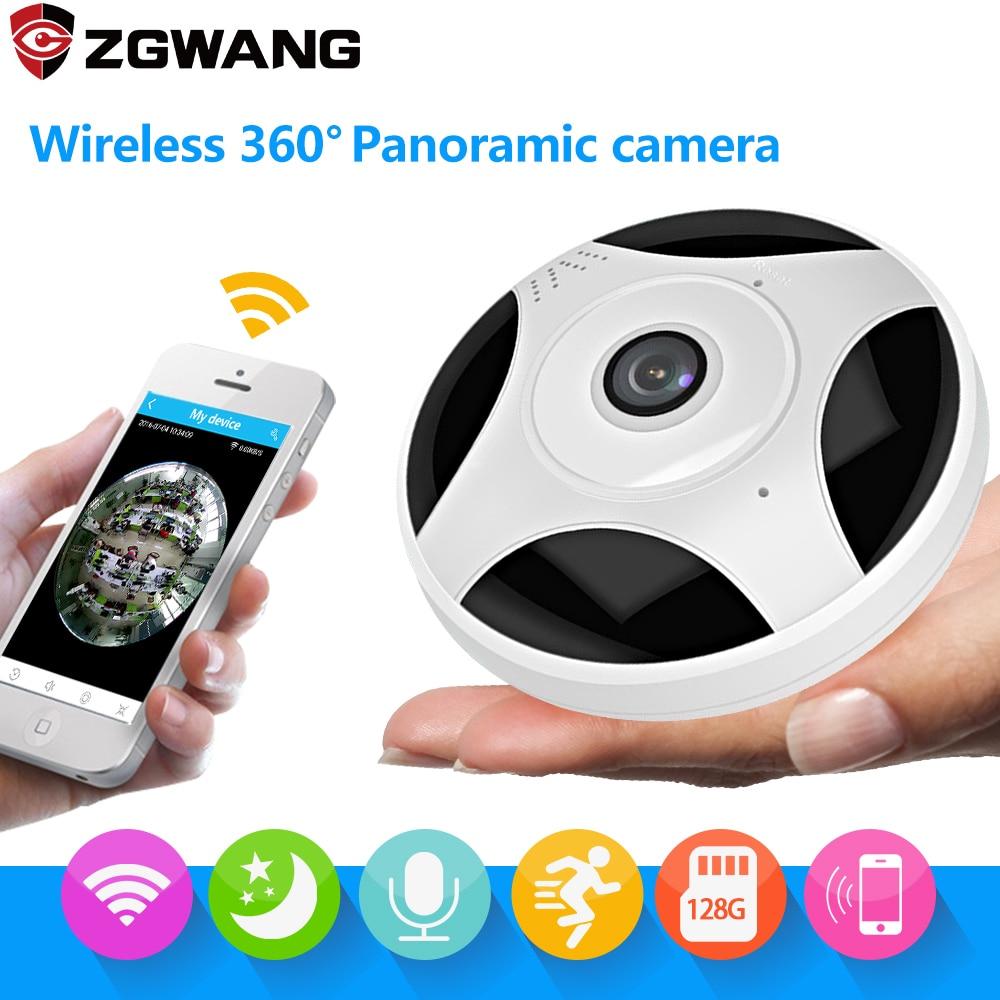 ZGWANG 360 градусов Панорама CCTV IP Камера Wi-Fi 1080 P HD Беспроводной VR Камера удаленного Управление Камеры Скрытого видеонаблюдения P2P Indoor Камера