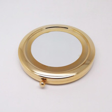 100Pcs 70MM Blank Compact Mirror DIY Portable Metal Cosmetic Golden -Free Shipping