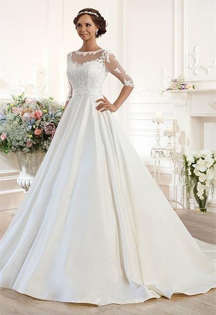 Aliexpress.com : Buy Vintage Lace/Appliques/Draped Wedding Gowns ...