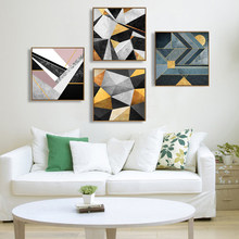 Abstract Multi Colors Canvas Paintings Modern Oil Wall Art Poster Print Nordic Pictures for Living Room Home Decoration No Frame(China)