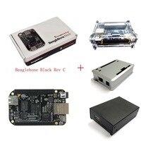 BeagleBone الأسود BB الأسود Cortex-A8 512MB DDR3 4GB 8bit eMMC AM3358 مجموعة لوحة التنمية Rev.C مع الحال بالنسبة ل BeagleBone الأسود B