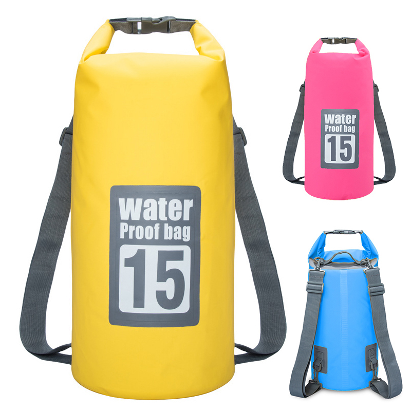 5l- 30l Outdoor River Trekking Bag Double Shoulder Strap Swimming Waterproof Bags Backpack Dry Organizers For Drifting Kayaking And Digestion Helping