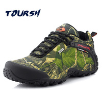 TOURSH Outdoor Hiking Shoes Men Waterproof Krasovki Mens Sports Shoes Hunting Shoes Zapatillas Hombre Deportiva Sapatilhas
