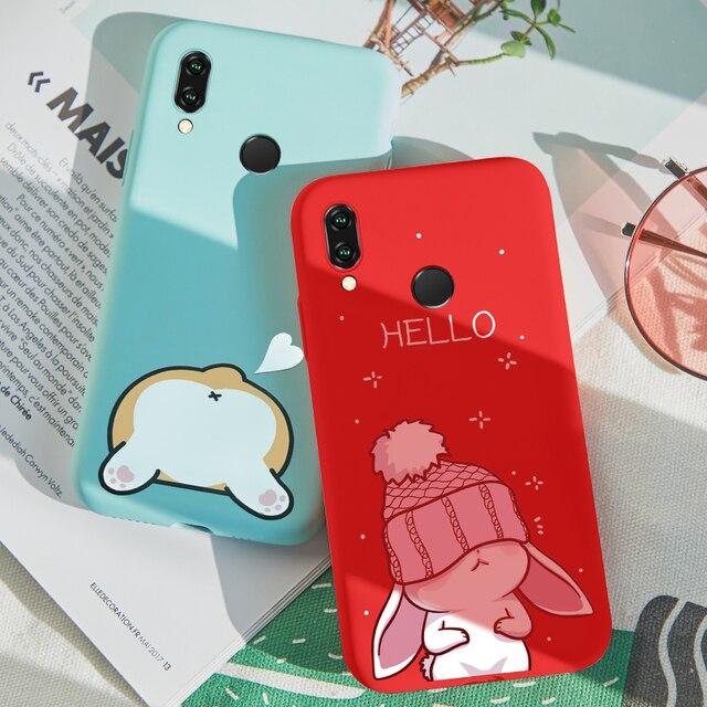 ASINA Cartoon Silicone Case For Huawei P20 Lite Case Cute 3D Relief Funda Bumper For Huawei P Smart P20 Pro Y6 2018 Mate 20 Pro