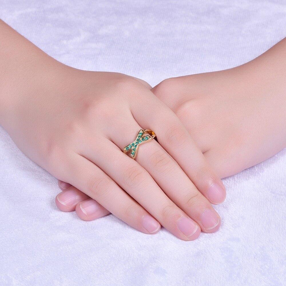 Romantic Wedding Anniversary Gift Women\'s Geometric Cross Green ...