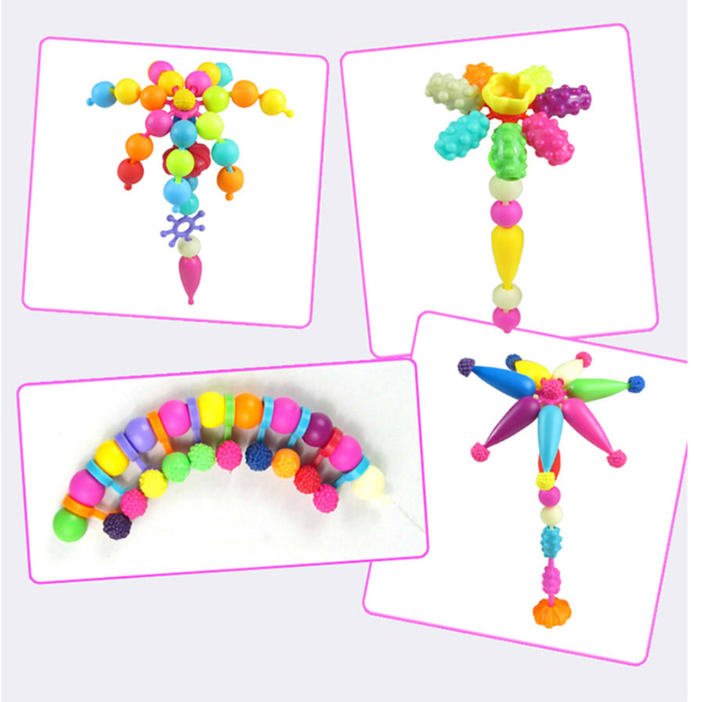 660Pcs Colorful Beads Jewelry Making DIY Necklace Bracelet Rings Kit Kid Toy