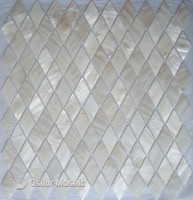 Free shipping rhombus pattern 100% Chinese freshwater shell mother of pearl mosaic tile for interior house decoration wall tile