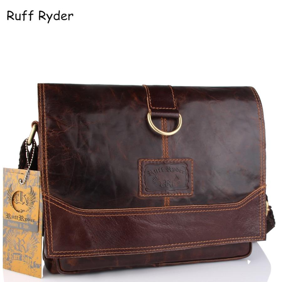 Ruff Ryder Genuine Leather Men Bag Men Messenger Bags Shoulder Crossbody Bags for Man Handbag Casual Men's Briefcases Hot Sale цены онлайн