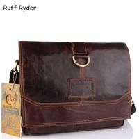 Ruff Ryde Genuine Leather Men Bag Men Messenger Bags Shoulder Crossbody Bags For Man Handbag Casual