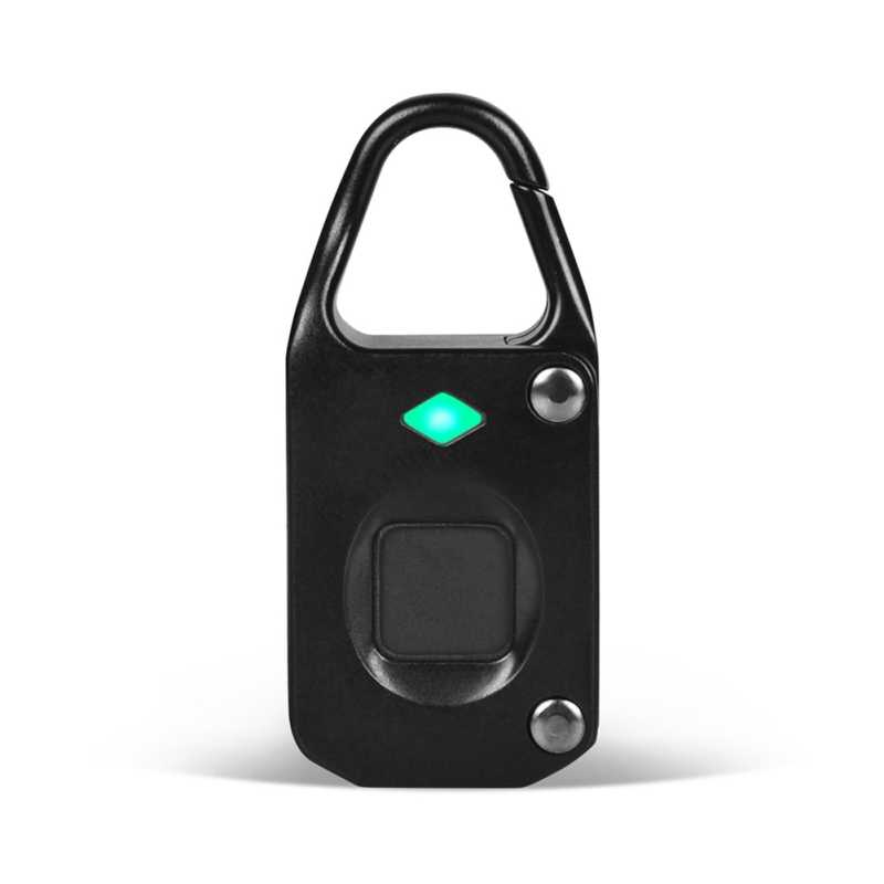 Waterproof Fingerprint Lock Home Use Anti-thief Locking USB Rechargeable Travel Suit Case Padlock SD02