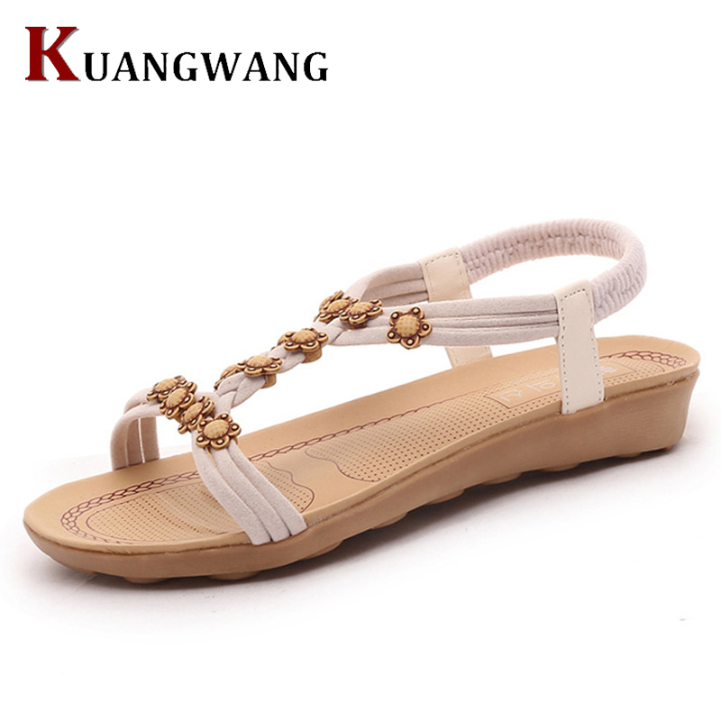 Women Summer Sandals 2017 Women Shoes Bohemia Shoes Woman Gladiator Ladies Shoes Flip Flops Flat Sandalias Mujer sandals women genuine leather lace up ankle wrap 2017 summer shoes woman gladiator sandal flat wedding shoes sandalias mujer