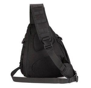 Image 4 - Erkekler 1000D naylon Sling göğüs çanta su şişesi gün geri paketi çapraz vücut Messenger omuz paketi askeri seyahat sürme yeni