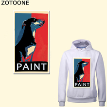ZOTOONE Heat Transfer paint Dog Iron On Patches For Clothing DIY Appliques Vinyl Sticker T-shirts A-level Washable E