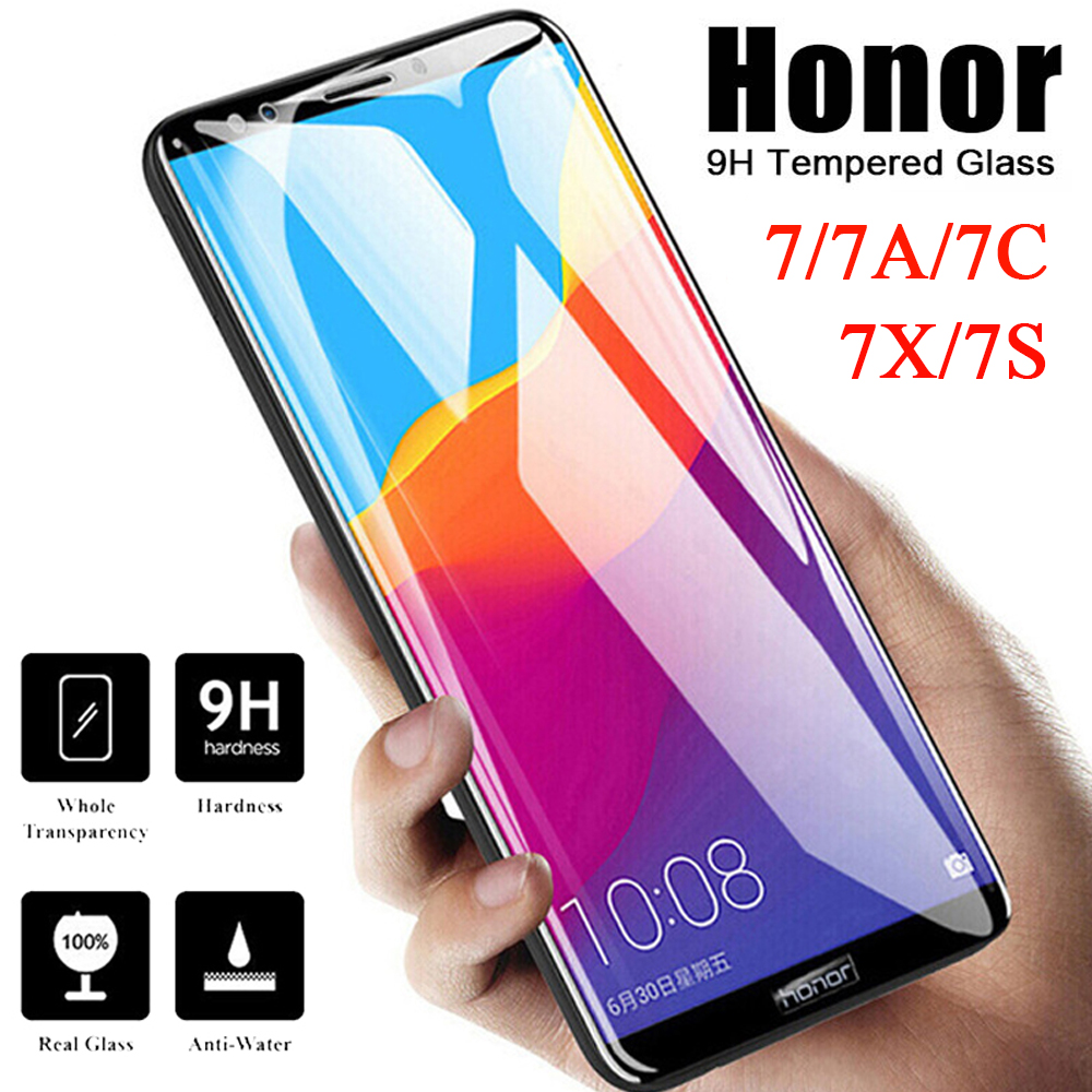 9H On Glass For Huawei Honor 7 7X 7S 7C 7A Pro Tempered Glass For Huawei Y5 Prime 2018 Phone Screen Protector Protective Film