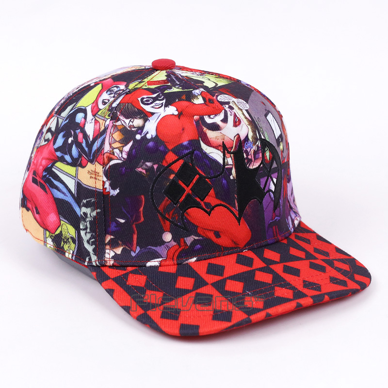 1225736e40b Suicide Squad Harley Quinn Snapback Caps Cool Hat Fashion Baseball Cap Bboy Hip  hop Hats For Men Women-in Baseball Caps from Apparel Accessories on ...