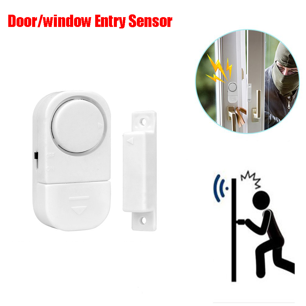 Garage Open Sensor Wireless Door/Window/Drawer/Caravans Alarm Sensor Home Security Magnetic Switch Anti-Burglar/Intruder 90db