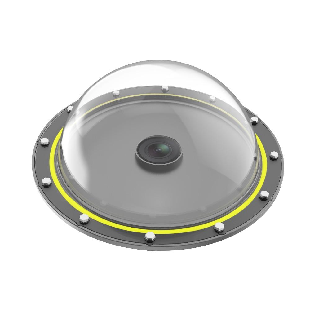 TELESIN 6 ''cubierta impermeable de Buceo Puerto domo con mango flotante para accesorios de lente de cámara de acción DJI Osmo - 3