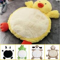 Cartoon Cute Dog Rabbit Plush Toys PP Cotton Stuffed Animal Duck Monkey Plush Cushion Soft Baby Cushion Pets Mat