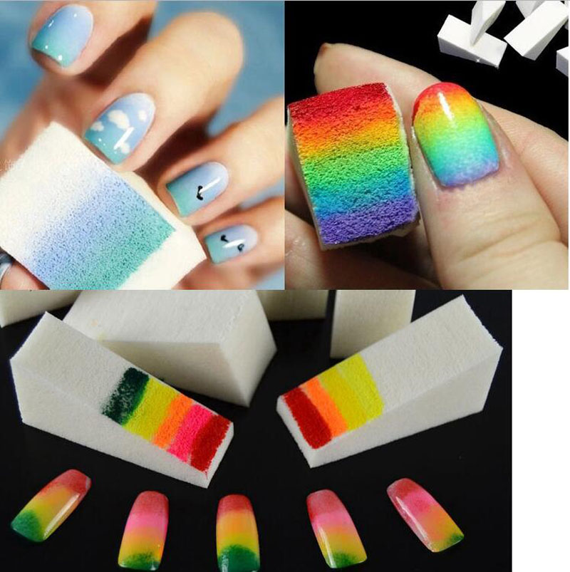 Nail design with makeup sponge lot nail art design stamping sponge nail design on nails art and view images prinsesfo Images