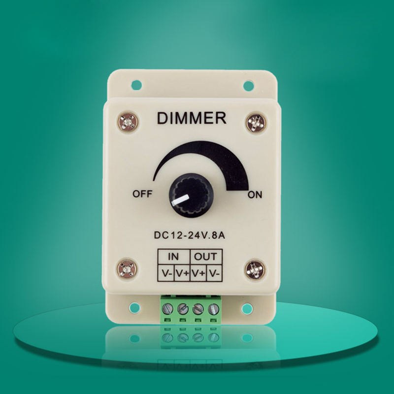 High Quality 12V 8A 96W PIR Sensor LED Protect Strip Light lamps Switch Dimmer Adjustable Brightness Controller