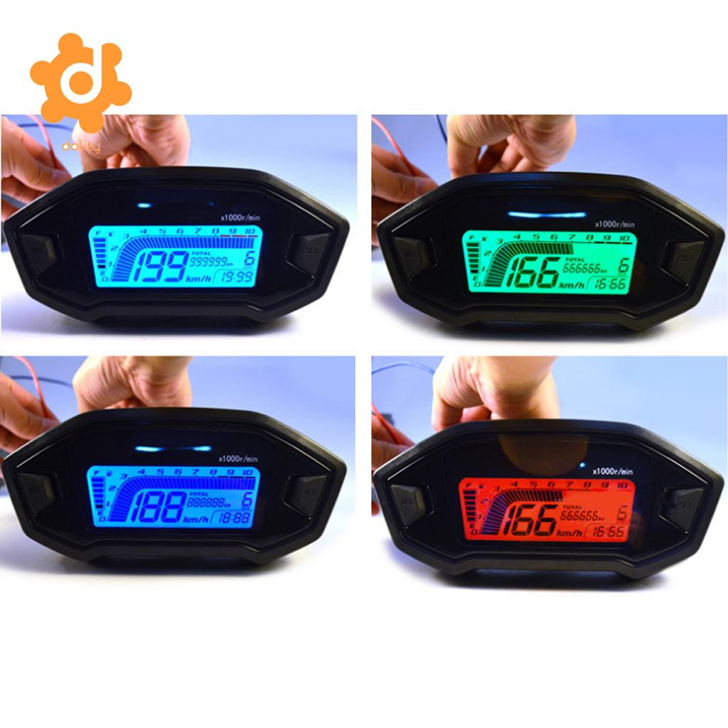 150mm LCD Digital Odometer Speedometer Tachometer for Motorcycle Scooter