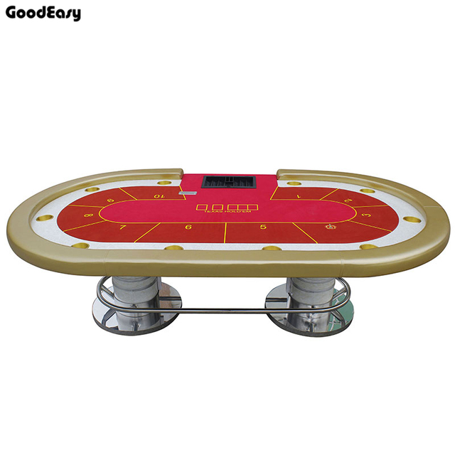 -280*140cm 6Colors Casino Poker Table Texas Hold'em Baccarat Square Tbale with 10 players