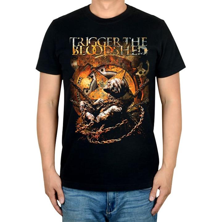 5 видов иллюстрации триггер Кровопролитный рок Бренд музыкальная футболка хлопок панк фитнес тяжелый рок металлическая война Танк Doomsday - Цвет: 3