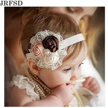 Cute Baby Girls Headwear 2017 new fashion baby girls Hair bands Lace mix 3 Rose Baby headbands Children Flower Hair Accessories цена
